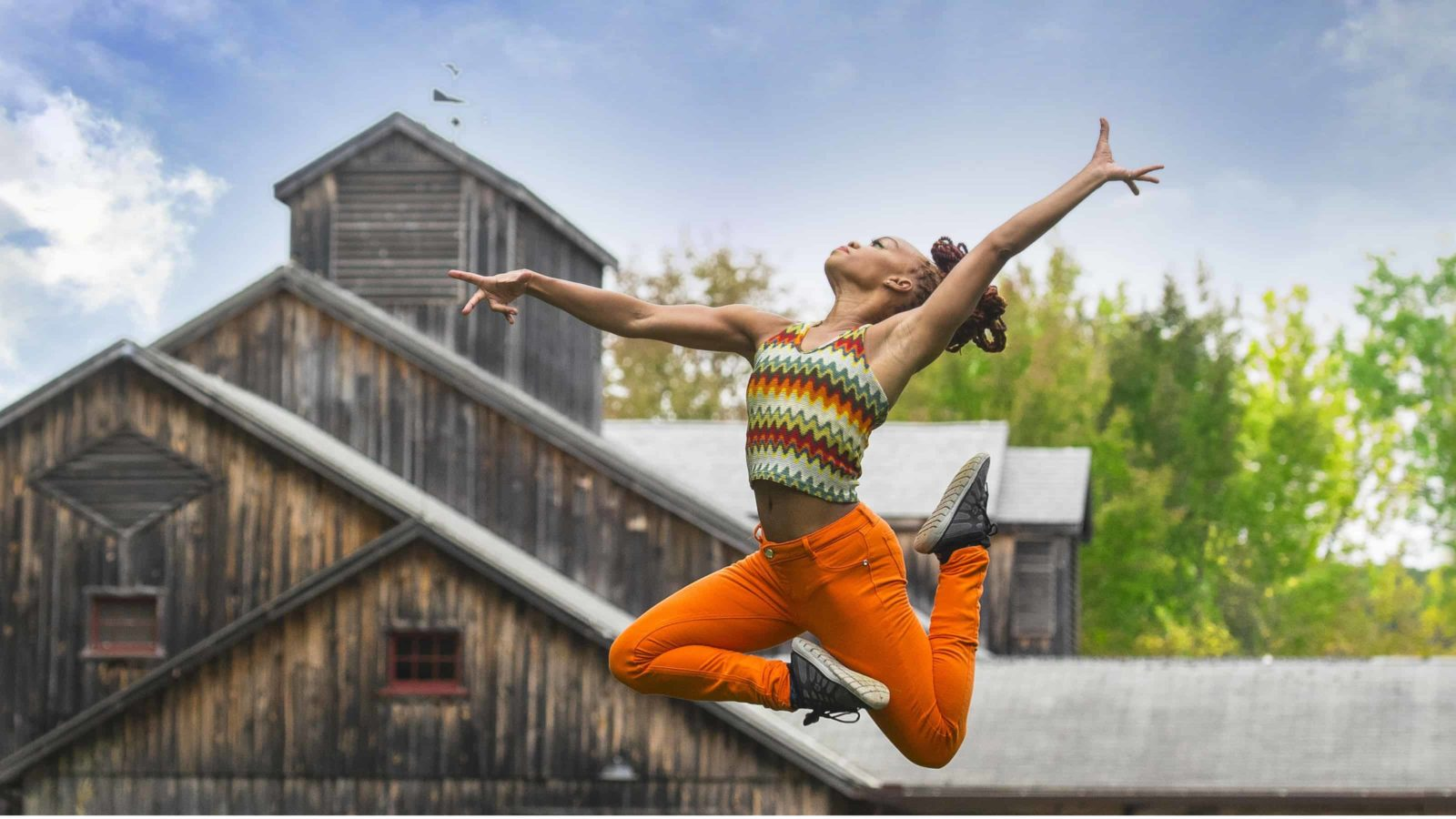 Choreographer Camille A. Brown at Jacob's Pillow.