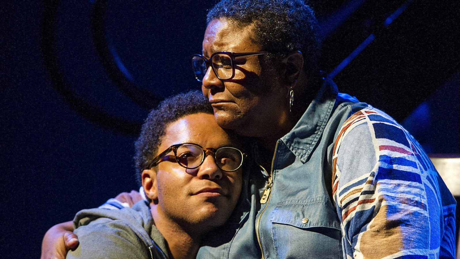 Myra Lucretia Taylor as Bethea and Christopher Livingston as Gideon in Harrison David Rivers' 'Where Storms Are Born' at Williamstown Theatre Festival