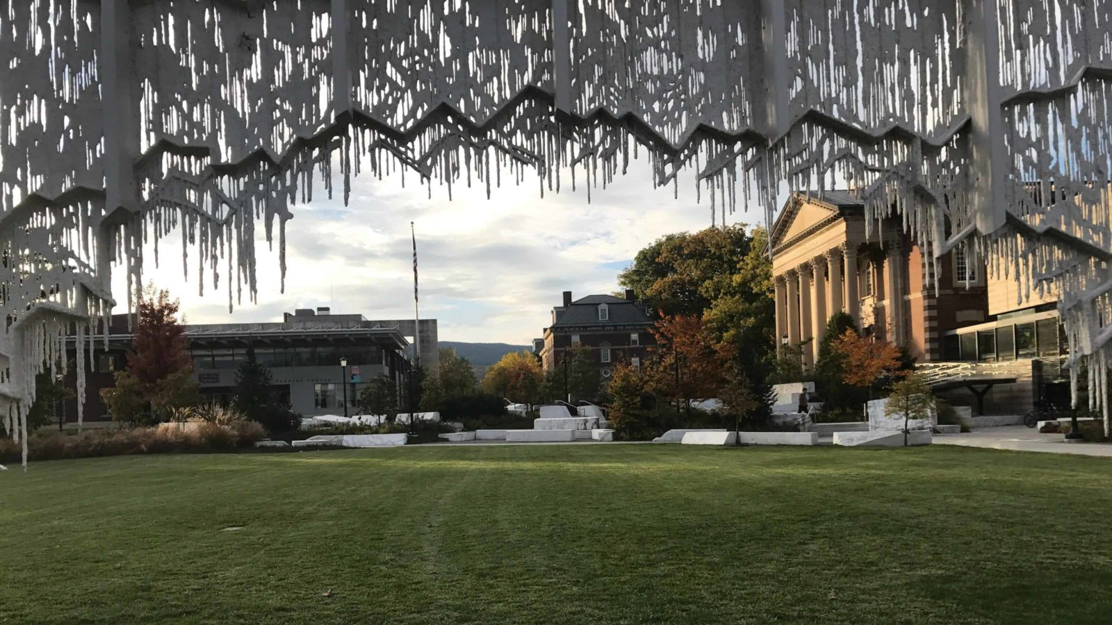 In her first major public art project, Diana Al-Hadid filled the Williams College campus with shapes like melting ice.
