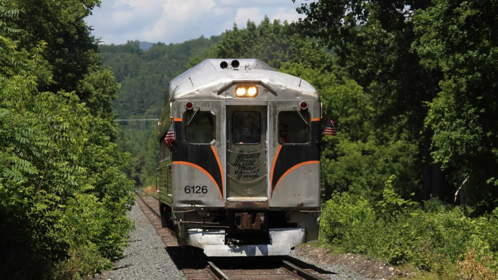 The Berkshire Scenic Railway runs historic train rides from Adams to North Adams on the Hoosac Valley Line.