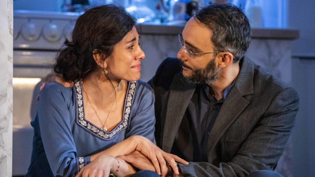 Marjan Neshat and Omid Abtahi appear in 'Selling Kabul' at Williamstown Theatre Festival. Photo by Joseph O'Malley.
