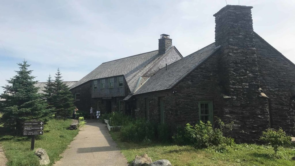Bascom Lodge, built in the 1930s by the WPA, welcomes visitors at the summit of Mount Greylock.