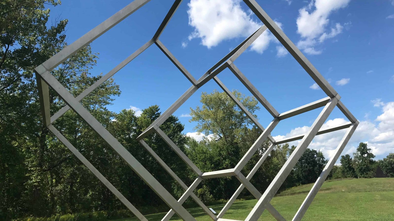 Forrest Myers' Valledor 1969 frames the fields at Art OMI in Ghent, N.Y.
