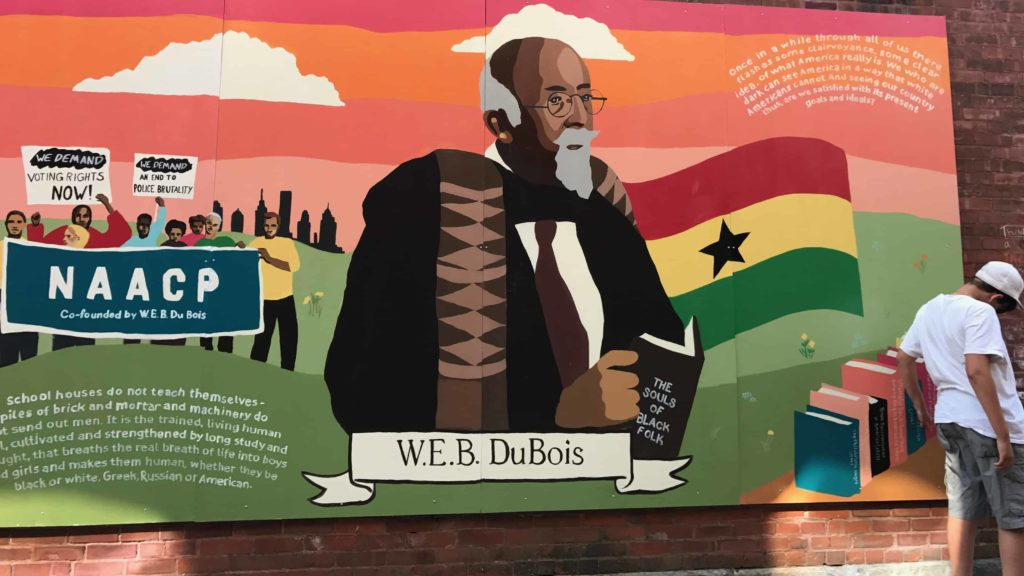 Murals celebrate W.E.B. DuBois in downtown Great Barrington.
