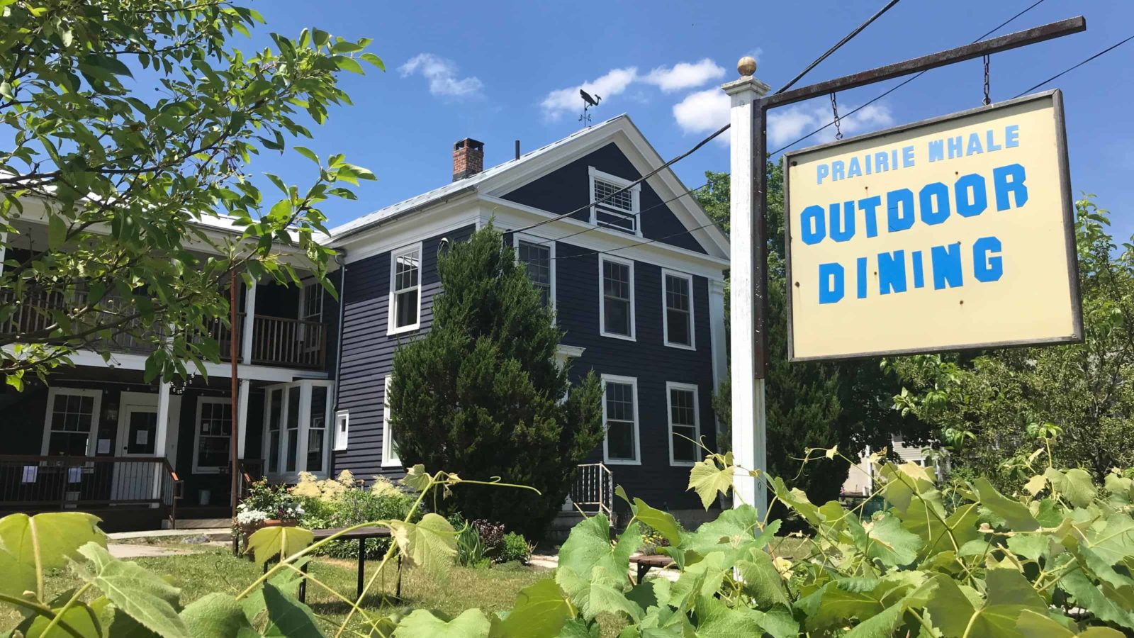 The Prairie Whale in Great Barrington adapts its gardens for outdoor dining in the pandemic.